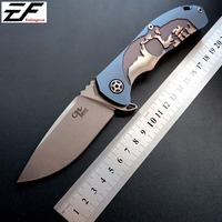 High quality CH 3504 Folding Knife S35VN blade steel pocket knife TC4 Titanium Handle ball Bearing camping knife