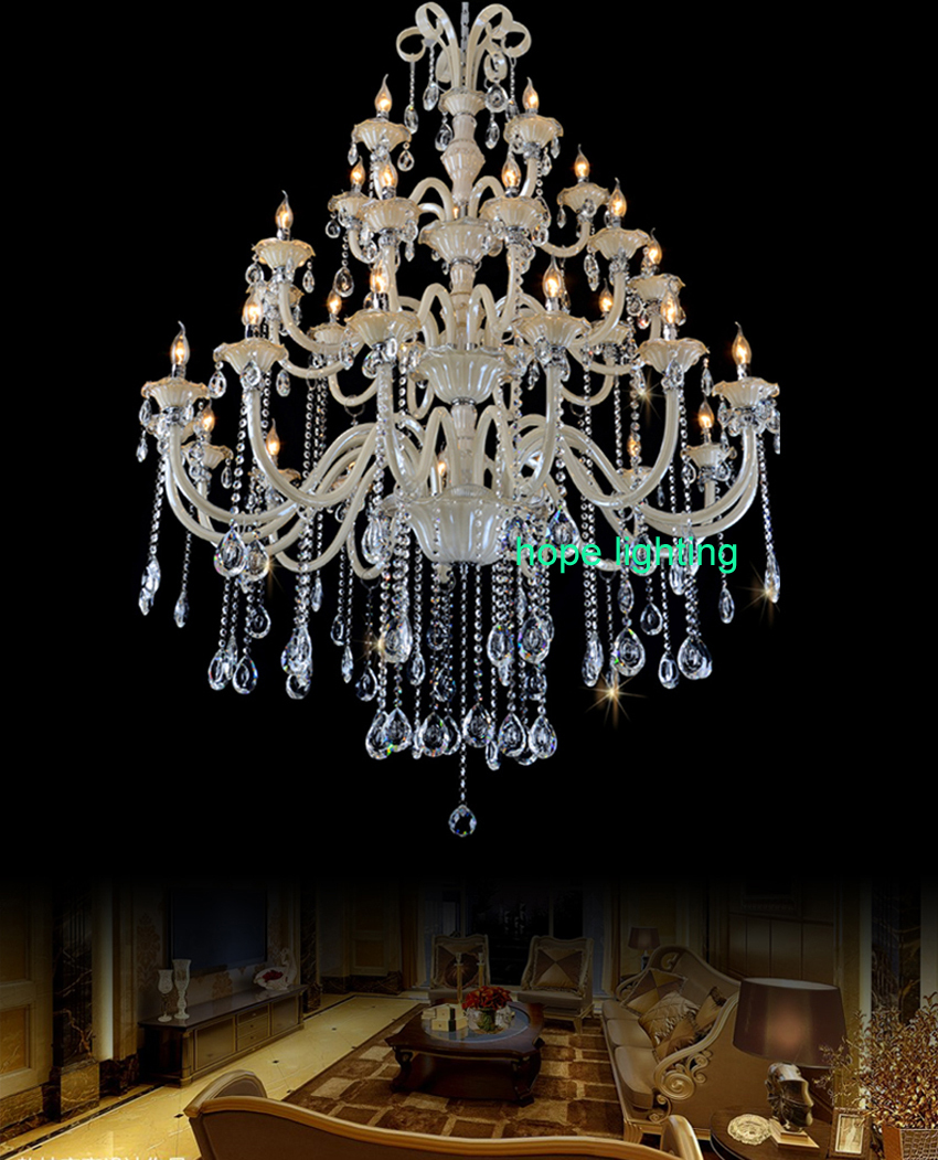 Modern Crystal Chandelier Bed Room Antique Luxurious Large For Hotel Luxury Foyer Led Lamp In Chandeliers From Lights