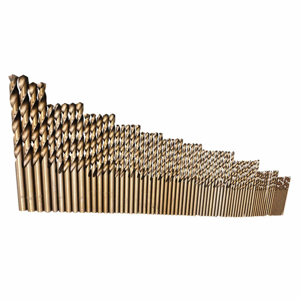 2019 New High Quality Cobalt Drill Bit 74Pcs Spiral Drills HSS Co Steel Straight Shank 1-8mm Drill Bit Gift Dropshipping