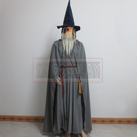 Lord Of The Rings Gandalf Wizard Cosplay Halloween Costume Custom With Hat Any Size