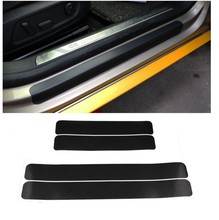 Car door carbon fiber sticker scratch-resistant anti-playing film protection pad welcome pedal