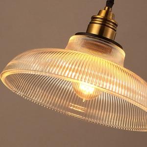 Image 2 - Vintage Pendant Lights Glass luminaire Loft Retro Hanglamp Creative Industrial deco maison Lighting Fixtures E27 Restaurants Bar