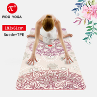 PIDO YOGA Yoga Mat 7mm Thick And Long Printed Suede + TPE Fitness Mat Gym Non-Slip Dance Mat 4