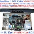 6 * 1000 м 82583 В Intel i5 3470 3.2 ГГц брандмауэр маршрутизатор с 2 г оперативной памяти 8 г SSD