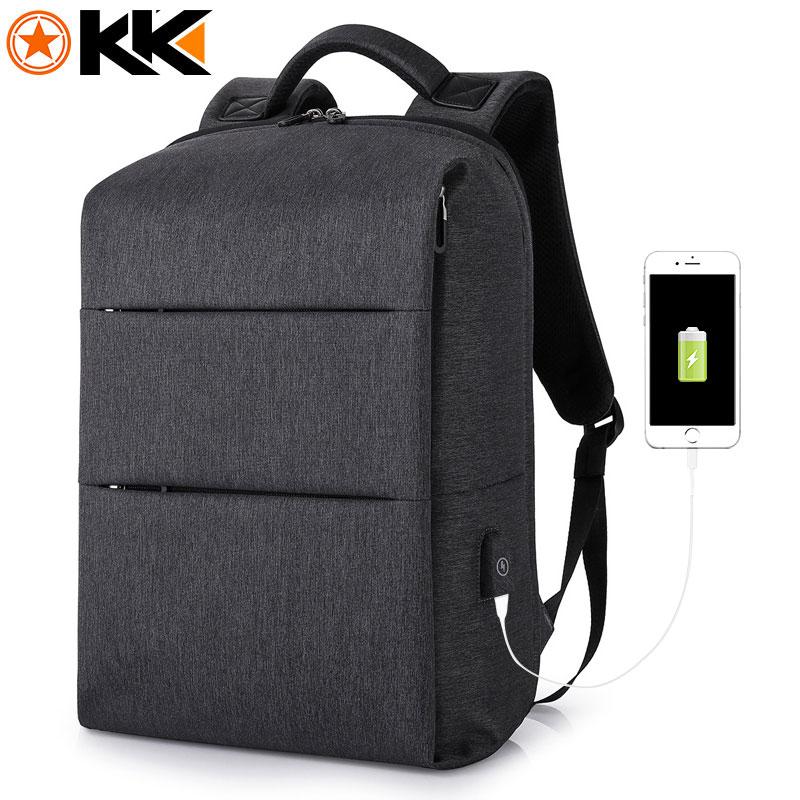 "Kaka Casual Men Backpack For Laptop 15.6"" Mochila Bookbag Water Resistant Usb Charge Backpack Male School Backpack Teens Women"