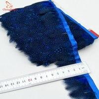 Chengbright al por mayor 10 yardas zafiro faisán Plumas recorta ropa del Partido de la falda del vestido de boda decoración artesanía Plumas cinta
