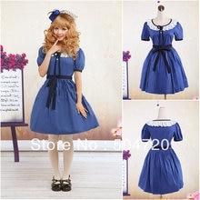 Auf verkauf! V-1046 Blau Klassische Halloween kostüme Gothic Lolita Kleid/viktorianischen kleid Cocktailkleid US6-26 XS-6XL