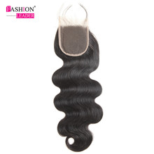 "[Fashion Leader]Brazilian Body Wave Lace Closure Non-Remy Hair Natural Color 100% Human Hair Free Part 4""x 4"" Free Shipping"