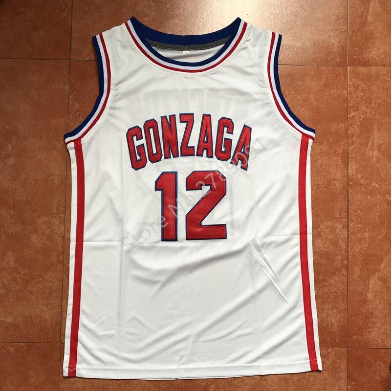 John Stockton Gonzaga Bulldogs College Basketball Jersey Embroidery