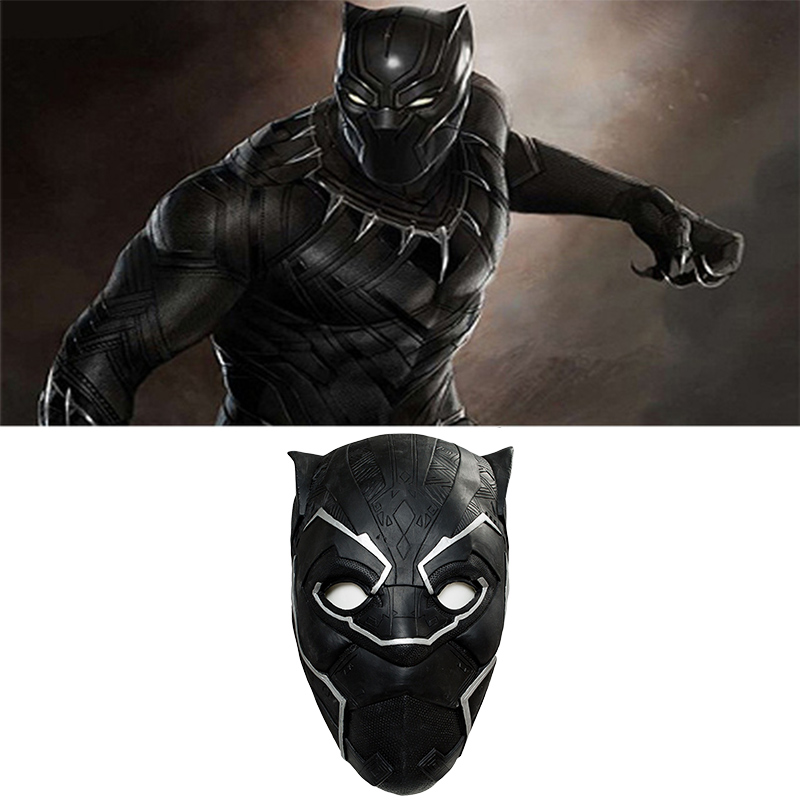 Avengers Infinity War Black Panther Face Mask Cosplay Costume Helmet Halloween Mask-in Costume