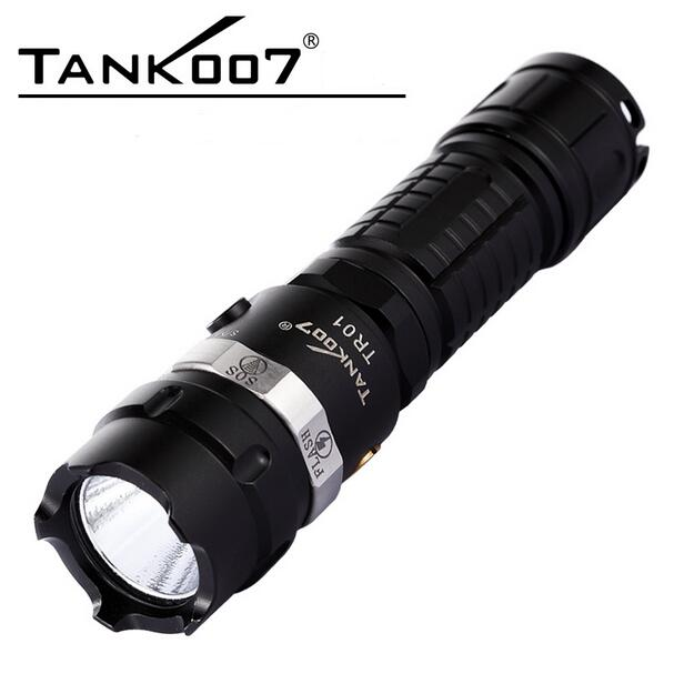 TANK007 TR01 5-modes CREE XP-G R5 Rechargeable LED Flashlight by 1*18650 AC+Car Charger цена