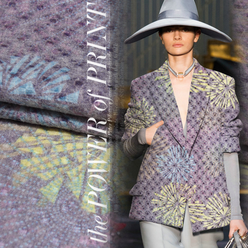 Three dimensional flower texture Rune fluffy compound knitted mohair wool fabrics