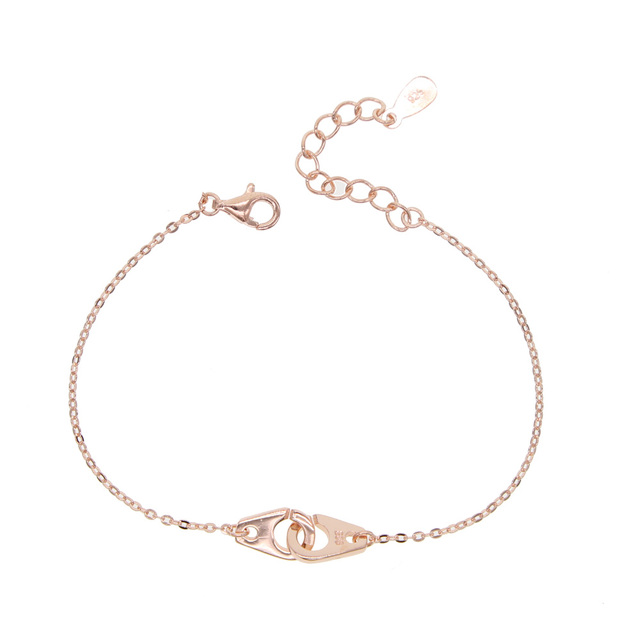 teen girl young girl gift delicate lover gift handcuff charm link chain 925  sterling silver hand 28e542c88d29