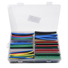 154pcs/set 6 sizes 7 colors 2:1 Heat Shrink Tubing Assorted Insulation Shrinkable Cable Sleeve Colourful Combo Wrap Wires DIY Ki