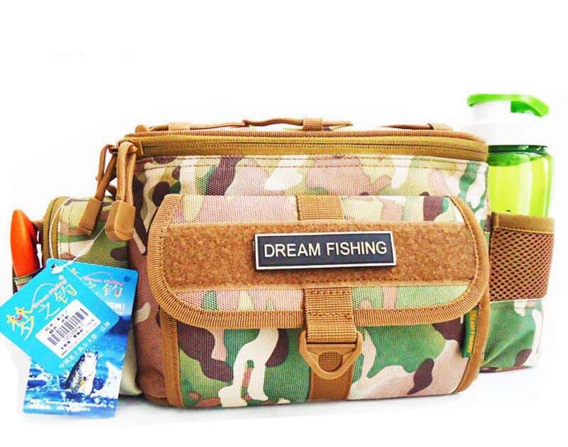 Free shipping 3colors Fishing Tools Bag 13*8*32cm pescaria <font><b>Carp</b></font> Fishing box shoulder bag waist bag tackle pesca equipment
