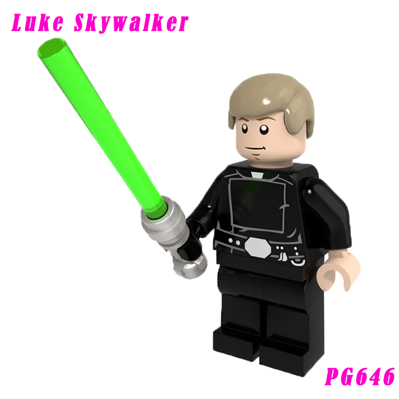 Luke Skywalker The Old Republic With Green-Bladed Lightsaber Building Block 75093 Death Star Final Duel Toy Figures Pg646