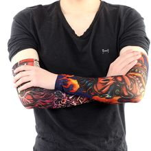 6PC Style Unisex Women Men Temporary Fake Slip On Tattoo Arm Sleeves Kit Colletion Halloween