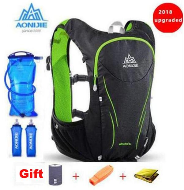 AONIJIE Outdoor Sports Trail Running Backpack 5L Upgraded Marathon Vest Pack Super Light Cycling Hiking Bag