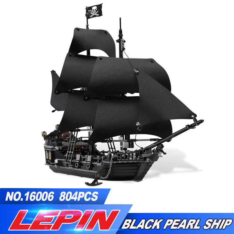 Lepin 16006 804 Pcs Pirates of the Caribbean The Black Pearl Model set Building Blocks Kits Funny Bricks  Compatible legoed 4184 16006 804pcs pirates of the caribbean the black pearl ship model building kits blocks bricks toys gift 4184
