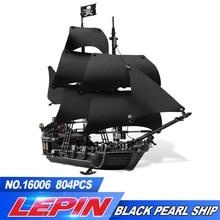 Lepin 16006 804 Pcs Pirates des Caraïbes Le Noir perle Modèle ensemble Blocs de Construction Kits Drôle Briques Compatible legoed 4184