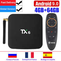 TX6 Android 9.0 Smart TV Box android Box Allwinner H6 4GB RAM 32GB ROM Unterstützung 4K H.265 2,4 g/5 GHz WiFi BT4.1 Media Player