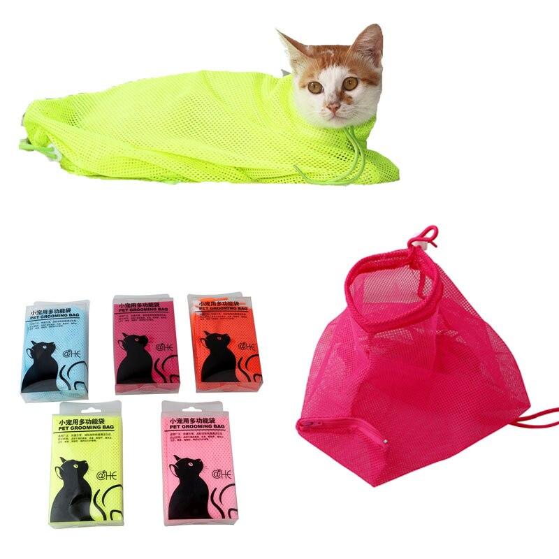 Cats Grooming Bathing Mesh Bag No Scratching Biting Restraint For Bathing Nail Trimming Injecting Examing Kedi Malzemeleri
