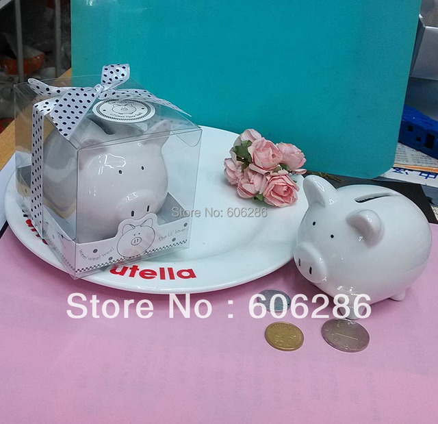 wholesale best 80pcslot birthday party souvenirs ceramic coin box mini piggy bank wedding and