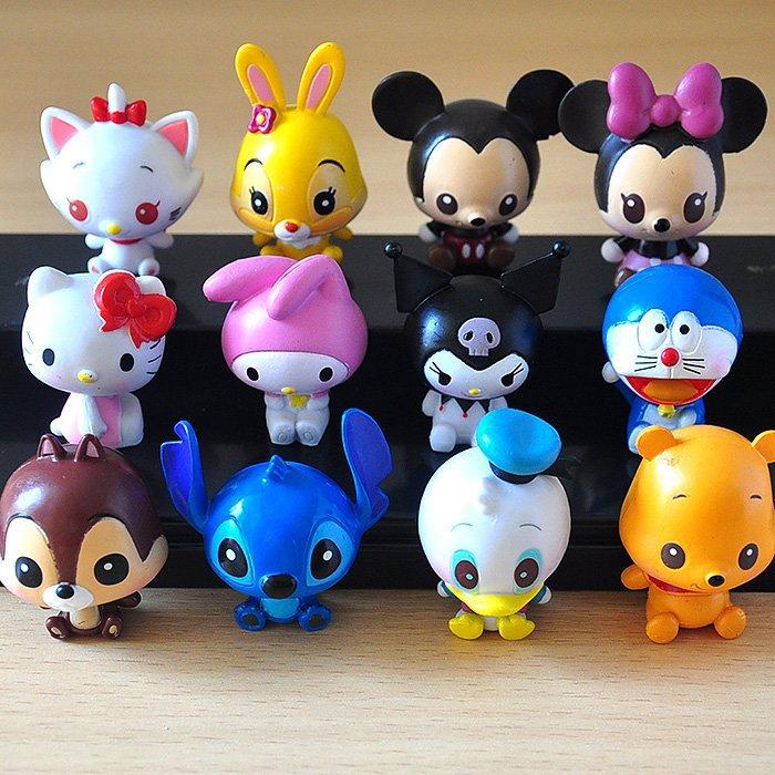 Disney Toys 12pcs/Set Classic Cartoon Figure Mickey Minnie Mouse ...