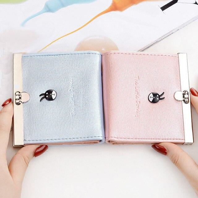 2016 Nuevo Estilo de Moda de Las Mujeres Clips para Billetes de Alta Calidad Mini Carteras Carpetas de Las Mujeres 4 Colores Disponibles Delicado Para Señoritas