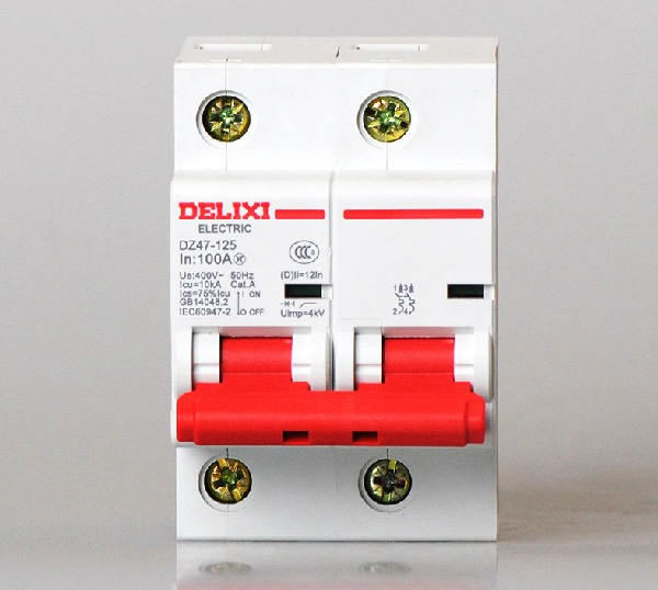 Genuine delixi Micro Circuit Breaker Air Switch overcurrent protection Air Breaker 2P 100A delixi switch