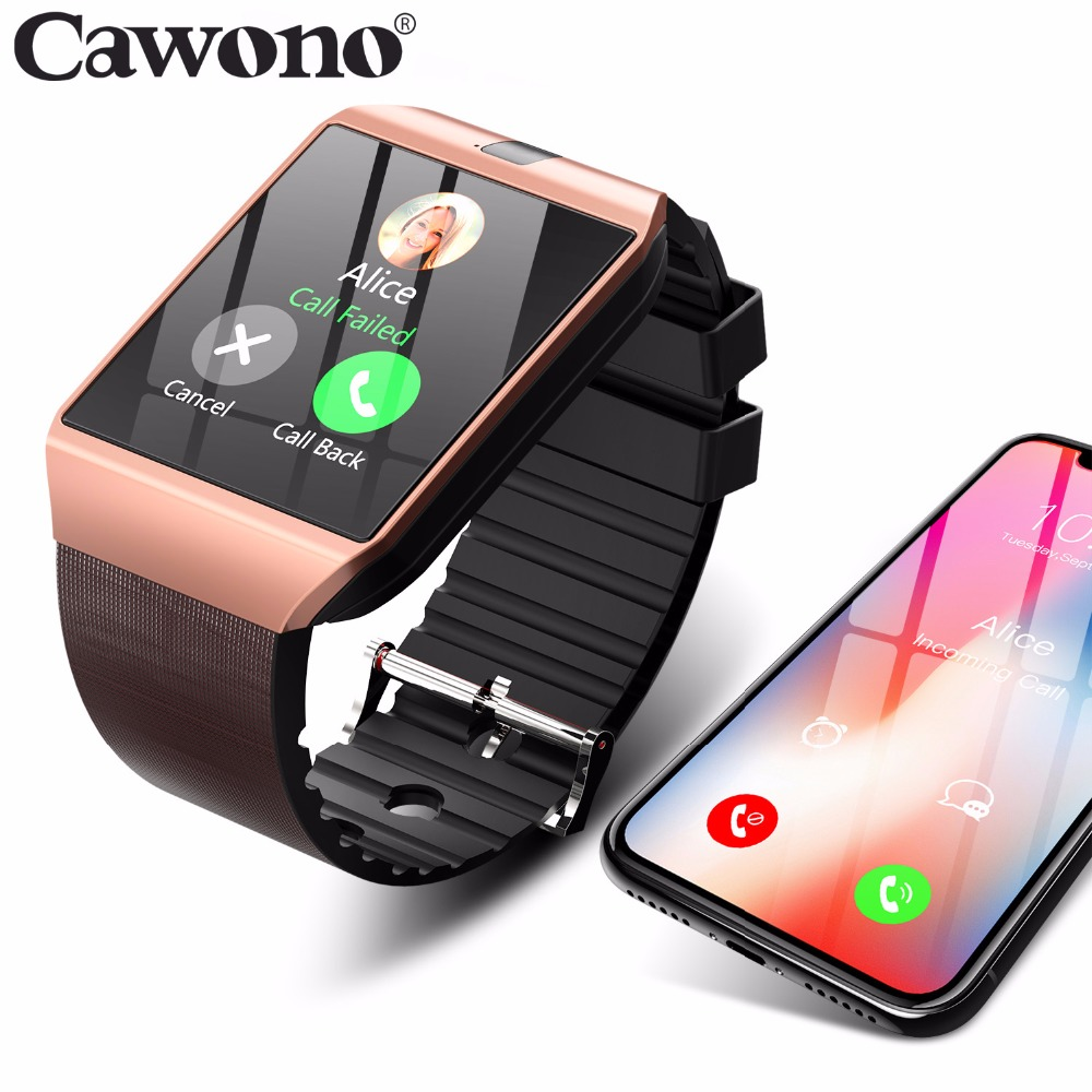Cawono DZ09 Smartwatch Bluetooth Smart Watch Watch Telefon Android Call SIM TF Camera untuk IOS Apple iPhone Samsung HUAWEI