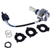 32W 3000LM COB LED Hi Lo Beam H4 Motorcycle Headlight Front Light Bulb Lamp
