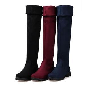 Image 3 - MORAZORA חורף חדש מגיע באיכות גבוהה נשים מגפי אופנה נעליים סקסי צאן חם גם נשים הברך גבוהה מגפי אישה