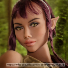 WMDOLL Elf Oral Sex Dolls Head Real Silicone Sex Doll Realistic Love Doll Adult Sexy Toy for Men