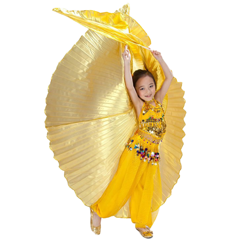 Newest Hot Sale Girls Handmade Belly Dance Costume Children Angel Kids Belly Dance Isis Wings Two Colors On Sale Without Stick