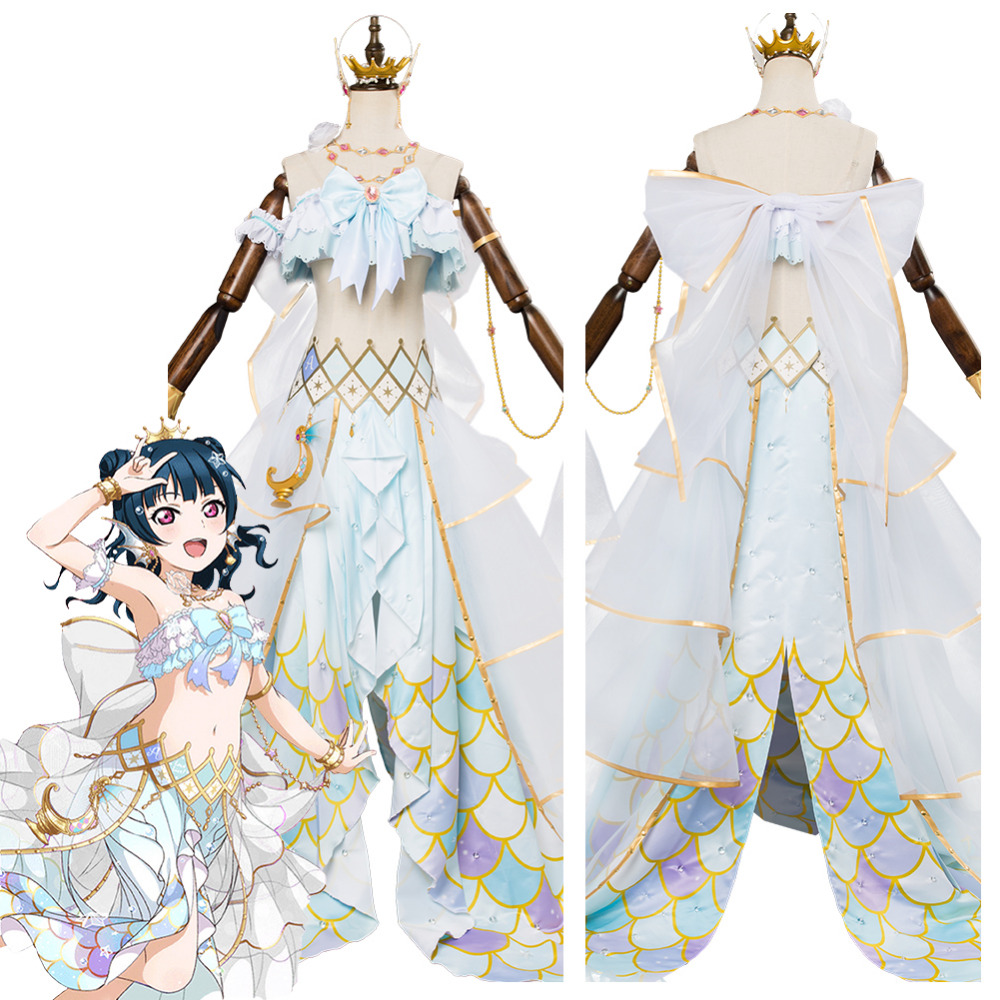 Lovelive Sunshine G's Magazine Tsushima Yoshiko Cosplay Mermaid Awaken Costume Dress Halloween Carnival Cosplay Costumes