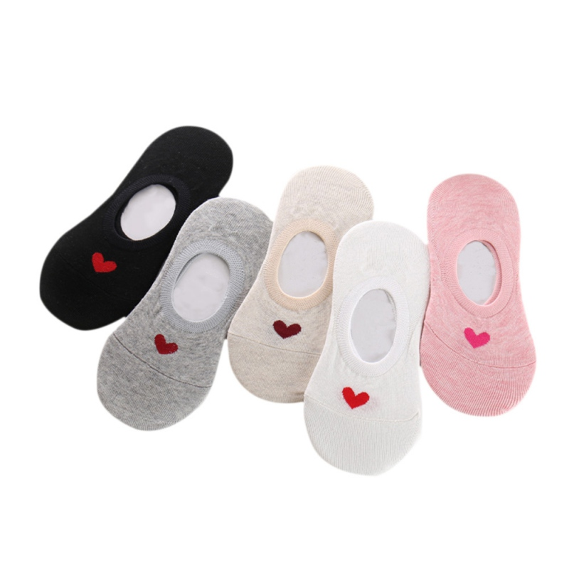 With High Quality Spring and Summer Cotton Love Stealth Boot Socks Anti Slip Sleeves All Lady Socks