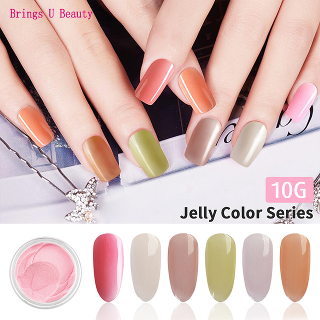 10g Very Fine New Arrival Cool Summer Color Nail Dipping Powder Easy to Operate Natural Dry Dip Powder Without Lamp Cure