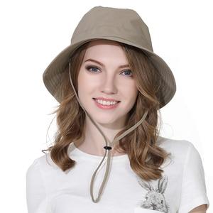 Шляпа Outfly овальная женская летняя шляпа от солнца с УФ-защитой, шляпа-ведро однотонная из полиэстера быстросохнущая шляпа для путешествий н...