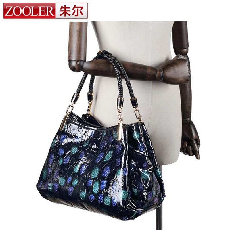 ZOOLER 100% REAL Natural Genuine Leather Women Leather Handbags High Quality Famous Designer Brand Bags Shoulder Messenger Bag zooler fashion chains high quality genuine leather bags handbags women famous brand ladies cowhide messenger shoulder bag bolsas