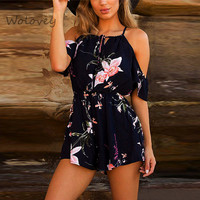 Fashion Women Female Casual Sexy Playsuit Ladies Jumpsuit Romper Summer Floral Spring Summer Playsuit For Women