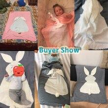 Baby Blanket Sleep Bag for Baby Bedding Linens Sofa Soft Wool Rabbit Baby Newbron Blankets Swaddle Wrap Bath Towels Play Mat