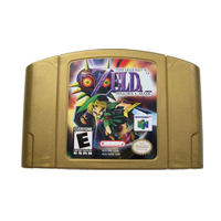 64 Bit Games Legend Majoras Mask 64 English NTSC Golden Game Card