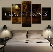 5 Piece Canvas Wall Art Painting Game of thrones Movie Modern HD Print For Living Room Artwork