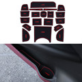 19 unids/set carstyling pad ranura puerta interior ranura estera de látex antideslizante amortiguador para honda vezel hrv h-rv coche interno dedicado