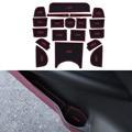 19Pcs/Set Car Styling Slot Pad Interior Door Groove Mat Latex Anti-Slip Cushion For Honda Vezel HRV H-RV Car Internal Dedicated