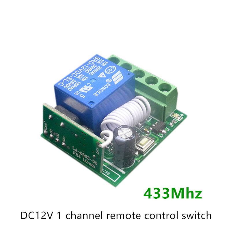 Best-speed Technology Company Limited Wireless Remote Control Switch DC 12V 1CH relay Receiver Module 433Mhz Universal + 2pcs RF Transmitter 433 Mhz Remote Controls