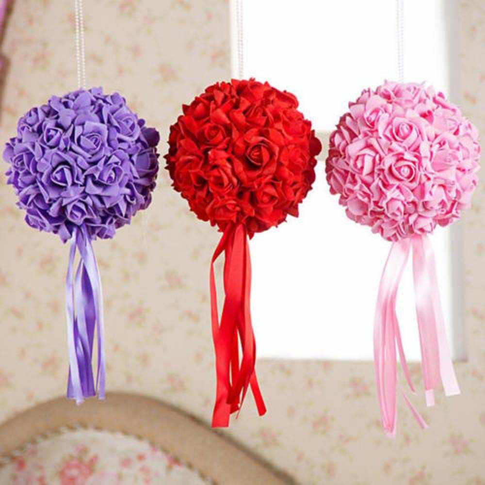 10Pcs Multi-Color Foam Head Artificial Rose Flowers Party Wedding Home For Home Garden Wedding Birthday&Wedding Car Decoration