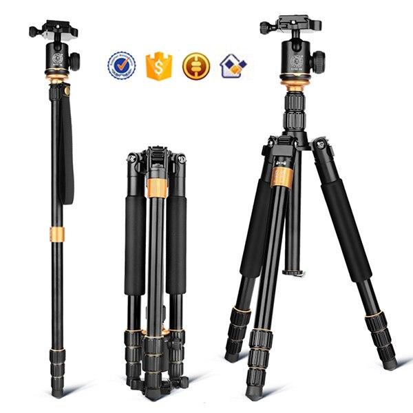 DHL livraison gratuite Q999S kaamera statiivile en aluminium appareil photo numérique trépied mieux que Q666 Q999 fit pour caméscope plié 360mm