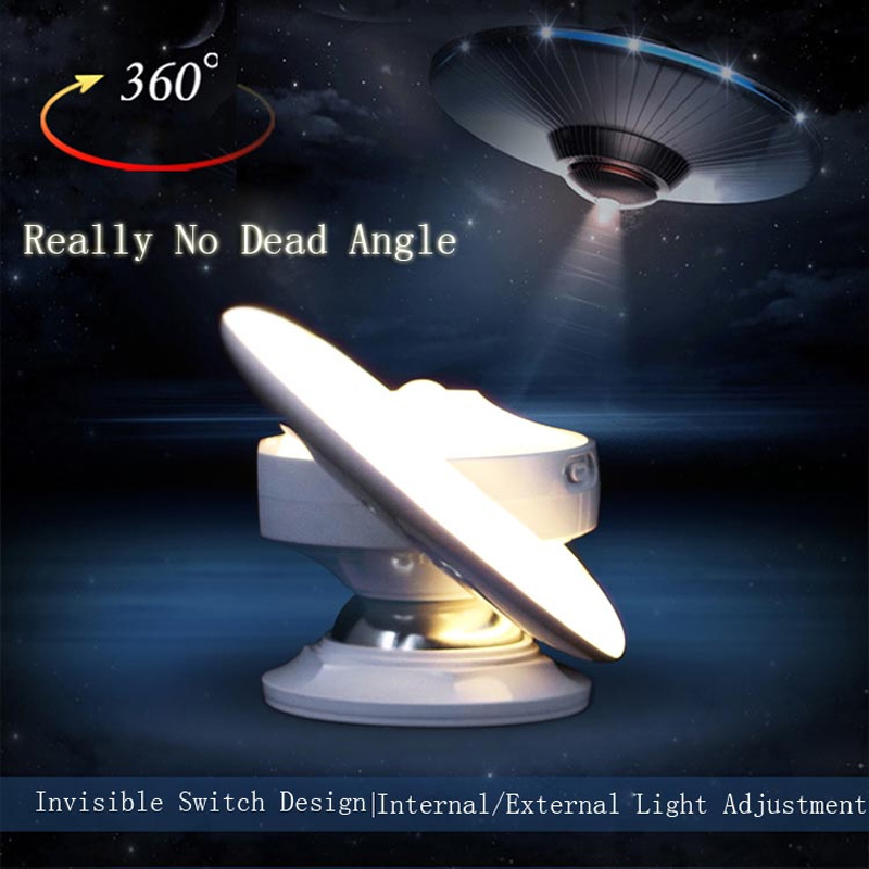 New UFO LED Infrared Human Body Induction Lamp 360 Degree Rotation Intelligent Creative Night Light Lamp Wall Lamp